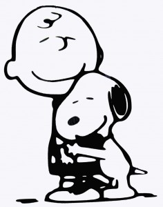 Snoopy-and-Charlie-Brown-Coloring-Pages